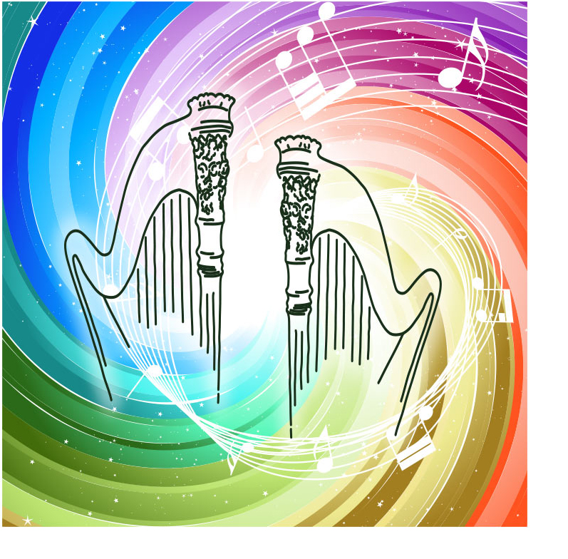 Harp music to enhance your mood or create a new one.  Colorful music.